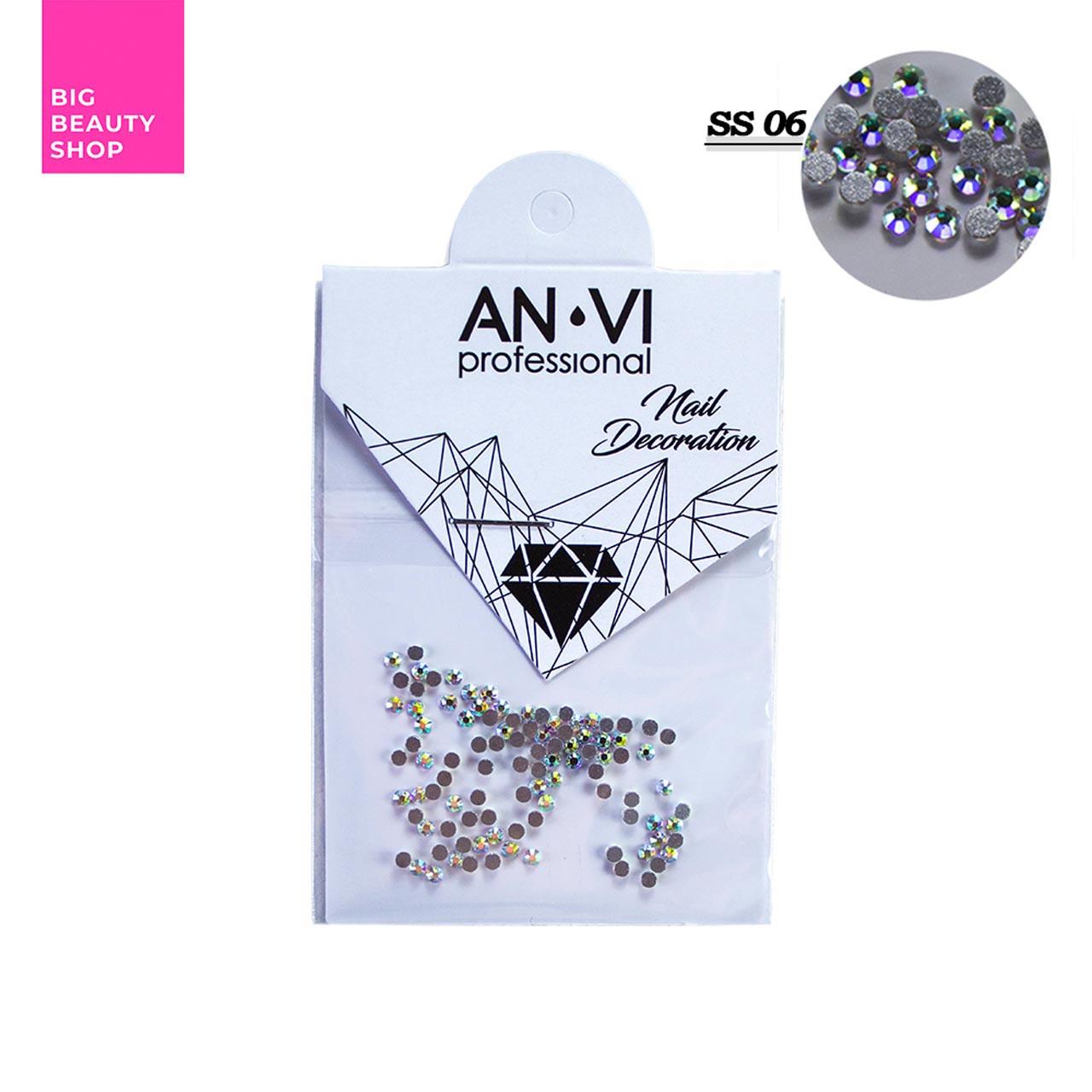 """Стразы для дизайна ногтей Swarovski ANVI Professional """"Crystal Pixie"""" №SS06, 100 шт"""