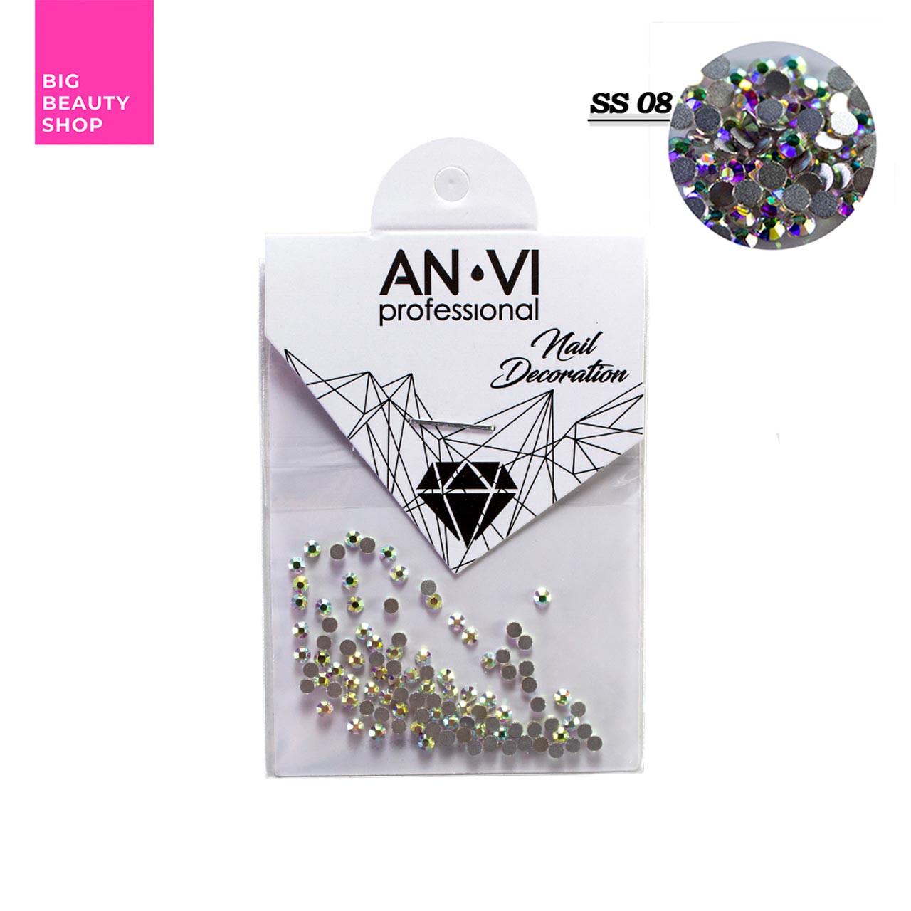 """Стразы для дизайна ногтей Swarovski ANVI Professional """"Crystal Pixie"""" №SS08, 100 шт"""