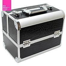Кейс для инструмента металлический (2 замка) черный