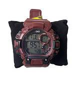 Мужские спортивные часы Q&Q M144J010Y темно красный