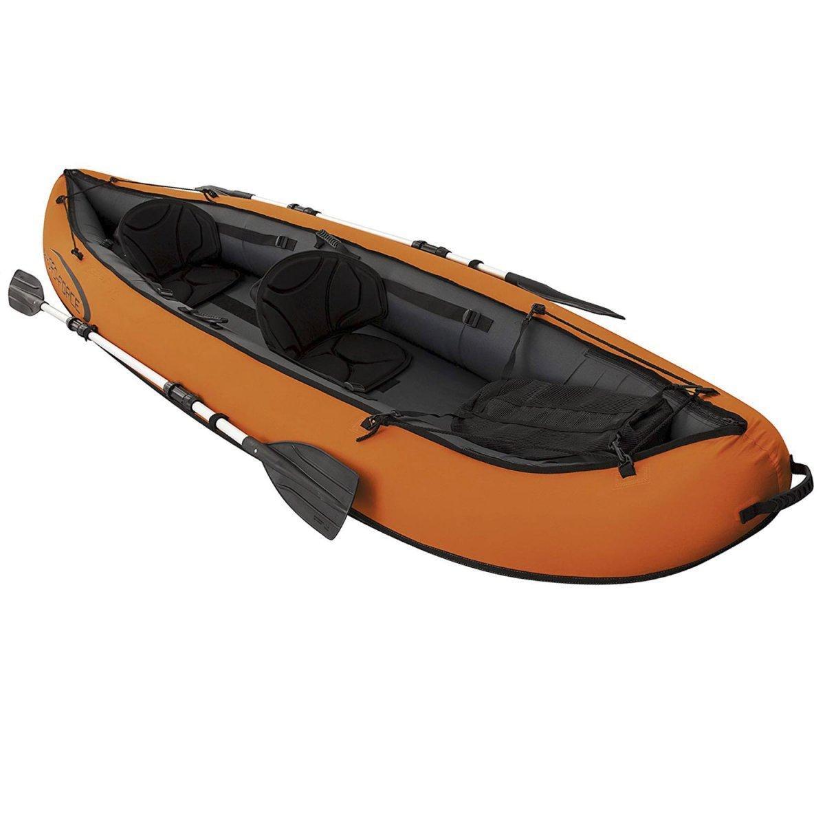 Двухместная надувная байдарка (каяк) Bestway 65052 Ventura Kayak, 330 х 94 см, с веслами и насосом