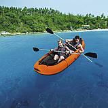 Двухместная надувная байдарка (каяк) Bestway 65052 Ventura Kayak, 330 х 94 см, с веслами и насосом, фото 2
