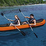 Двухместная надувная байдарка (каяк) Bestway 65052 Ventura Kayak, 330 х 94 см, с веслами и насосом, фото 8