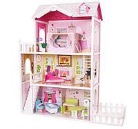 Детский игровой кукольный домик Ecotoys California 4107fm + терраса для детей