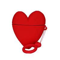 Чехол AirPods2 , силиконовый, Lucky Heart series, с кольцом