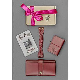 Женский подарочный набор кожаных аксессуаров Париж