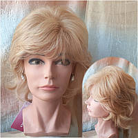 Парик из натуральных волос каскад пшеничный блонд ALINA-RHL24B