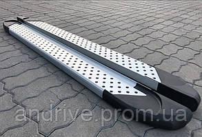 Пороги боковые (подножки профильные) BMW X3 2003-2010