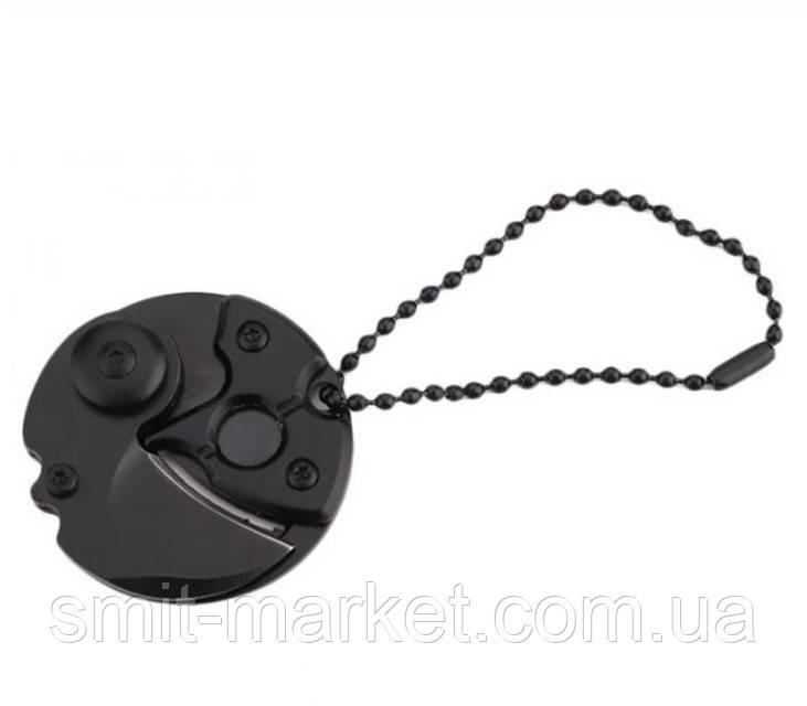 Нож в виде монеты для EDC набора в виде брелка для ключей, Черный