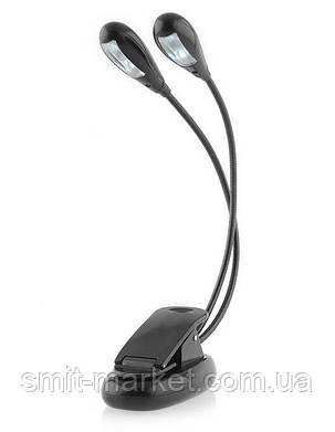 4 LED фонарик для чтения книг ГИБКИЙ корпус (портативный светильник, лампа для чтения), фото 2