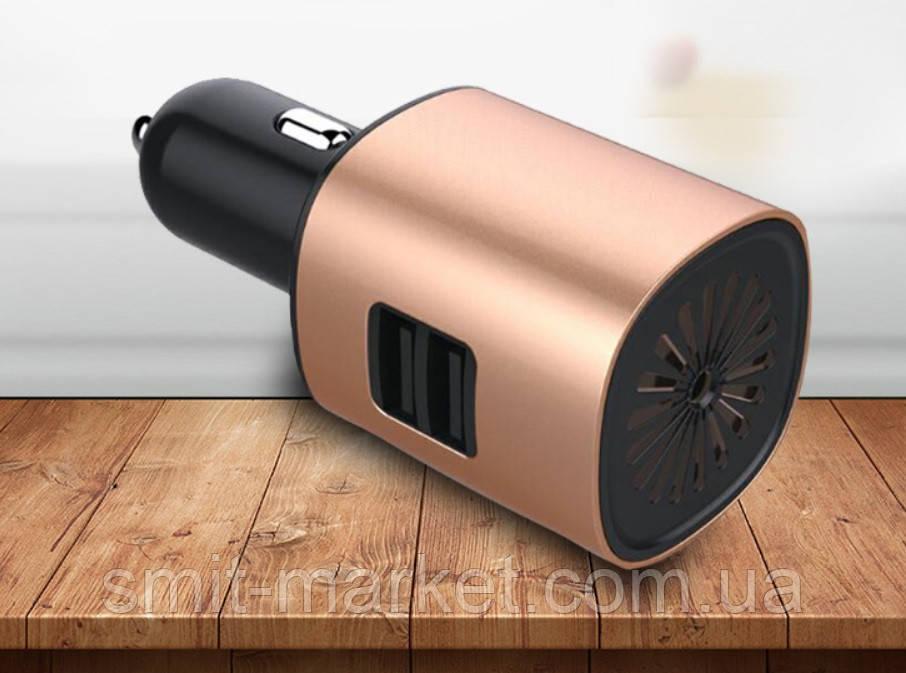 Автомобильный увлажнитель-очиститель воздуха 12V с USB зарядкой
