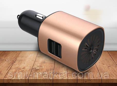 Автомобильный увлажнитель-очиститель воздуха 12V с USB зарядкой, фото 2