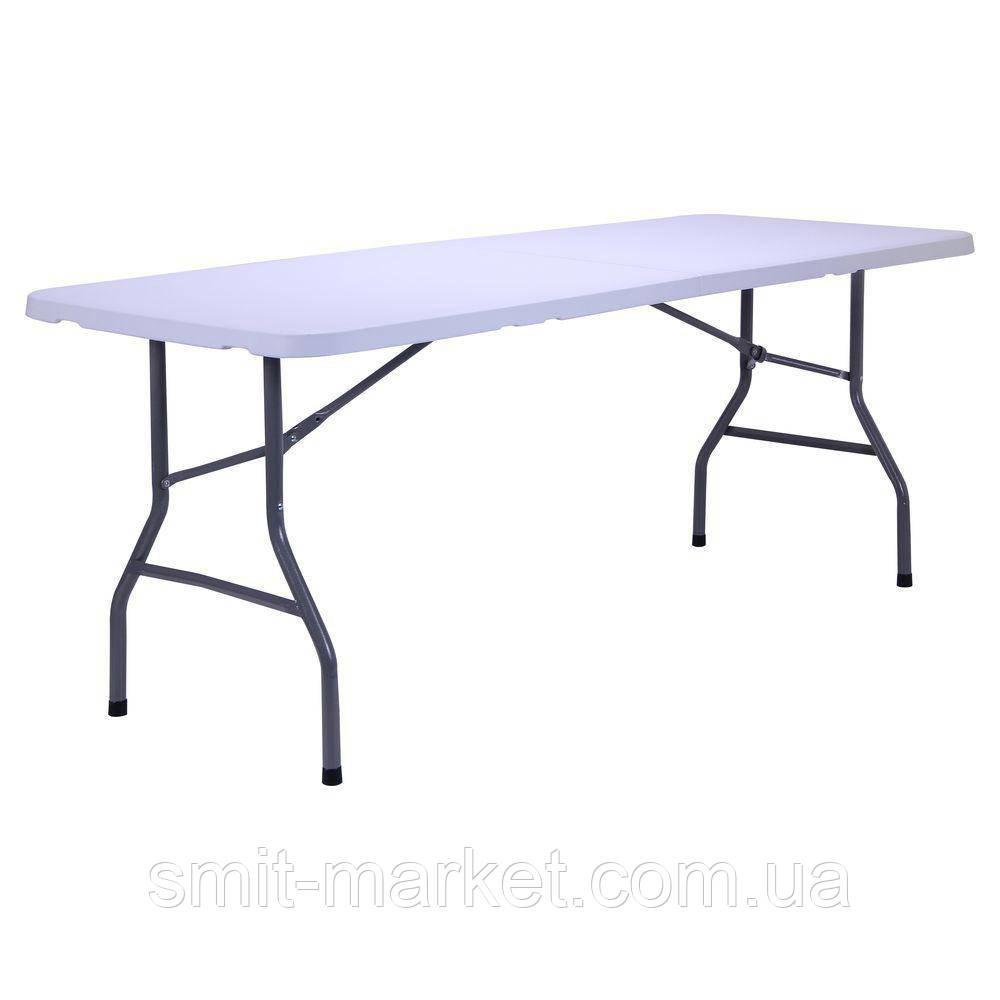 Раскладной стол 183 см прочный пластик
