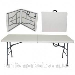 Раскладной стол 183 см прочный пластик, фото 2