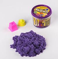 """Кинетический песок """"Kidsand"""" фиолетовый в ведре 350г, 2 формочки, Danko Toys, KS-01-03"""