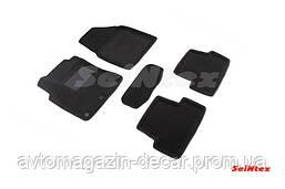 """Коврики текстиль Nissan Qashqai 2007-14 черные  """"Seintex"""" (3D ворс/3-х слойный материал) (5шт)"""