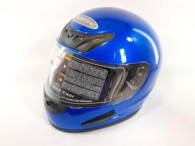 Шлем Musstang качество Синий