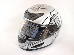 Шлем Musstang качество Серый с черным