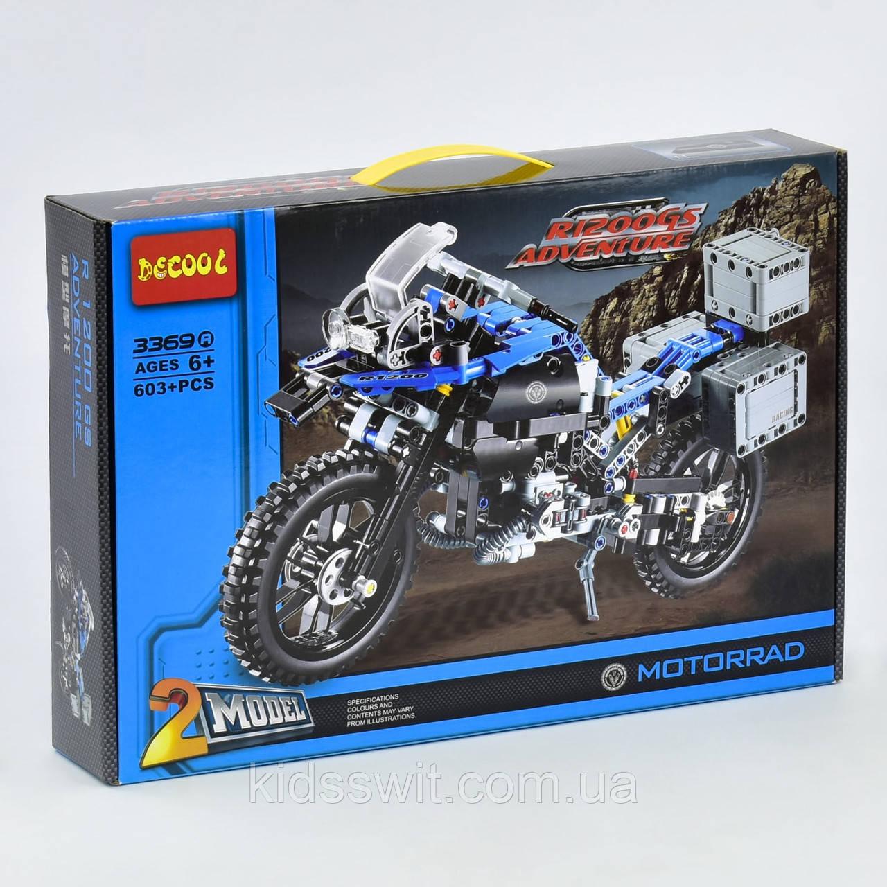 "Конструктор ""Decool""  ""Мотоцикл BMW"", на 603 детали, 3369 А"