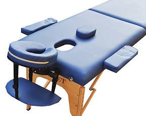 Масажний стіл з вирізом під особа ZENET ZET-1042 NAVY BLUE розмір S (180*60*61), фото 2
