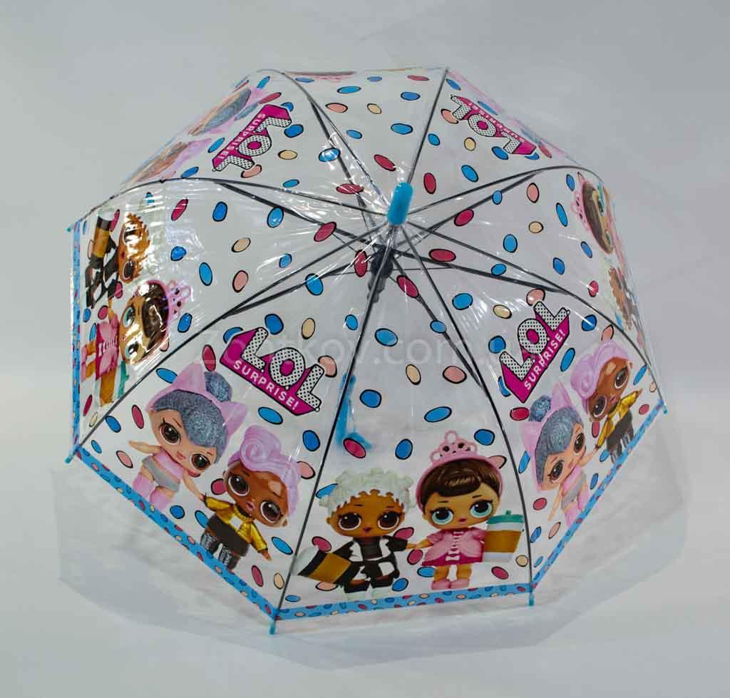 """Детский прозрачный зонтик """"LOL"""" на 4-6 лет"""