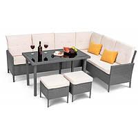 Садовая мебель плетенная VENICE Grey мебель из искусственного ротанга для дома, сада, кафе и ресторанов
