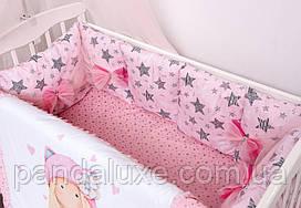 Дитячий постільний набір красивий комплект в ліжечко Лялька