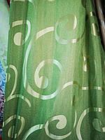 Штора жаккард зеленый Modern