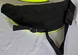 Женская желтая блестящая сумка на пояс, бананка 30*10 см, фото 2
