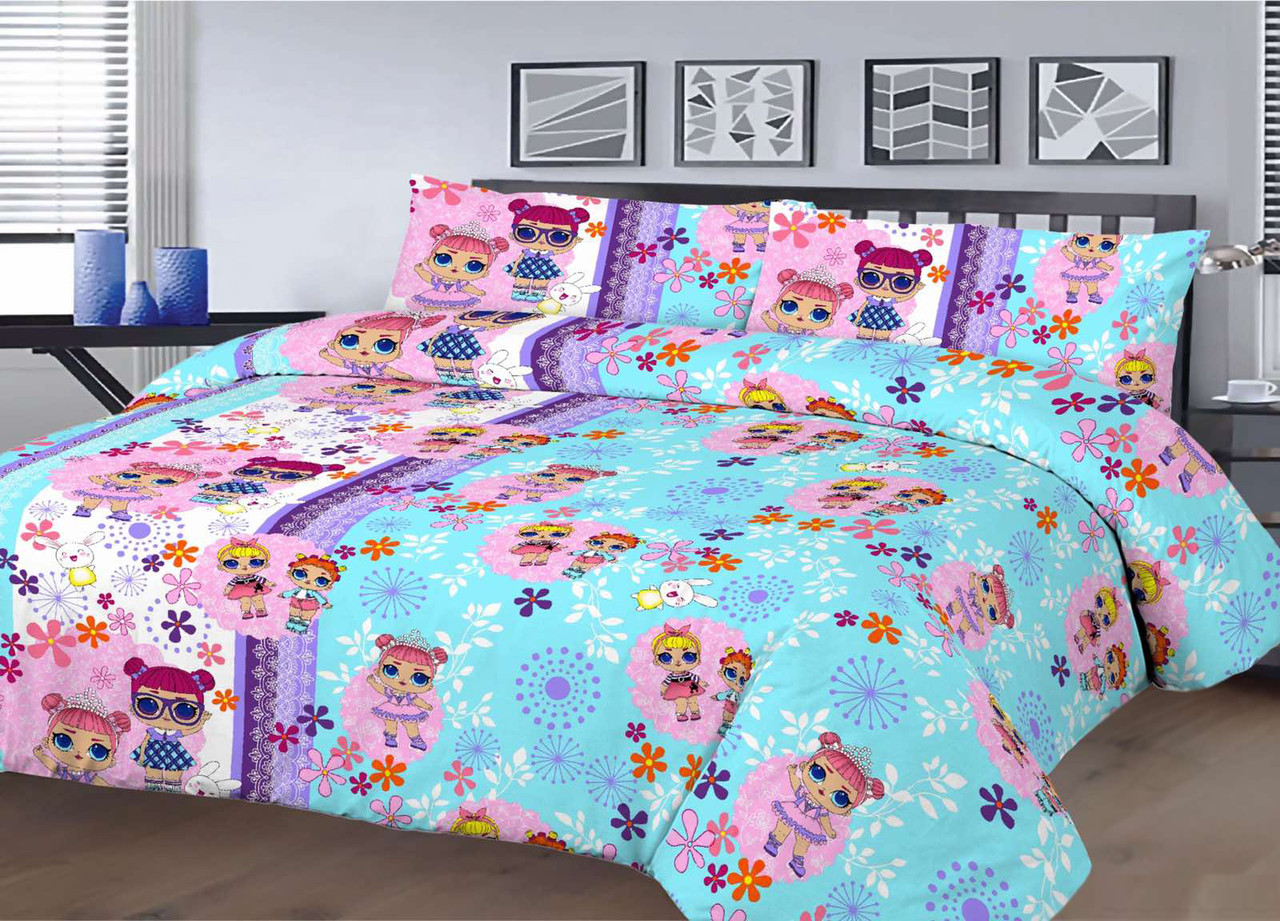 Детский комплект постельного белья 150*220 хлопок (14409) TM KRISPOL Украина