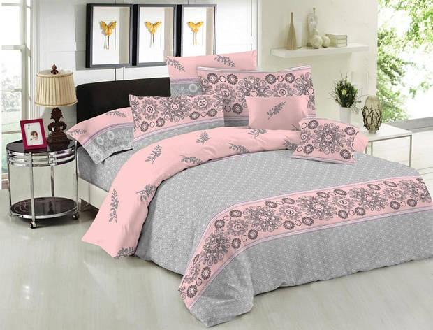 Двуспальный комплект постельного белья евро 200*220 хлопок  (14412) TM KRISPOL Украина, фото 2