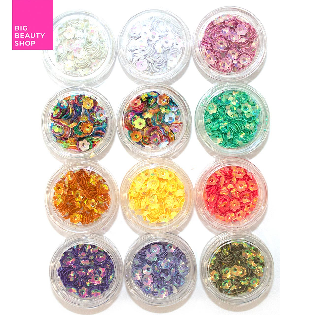 Набор цветочков для ногтей микс (12шт * 1уп) А414