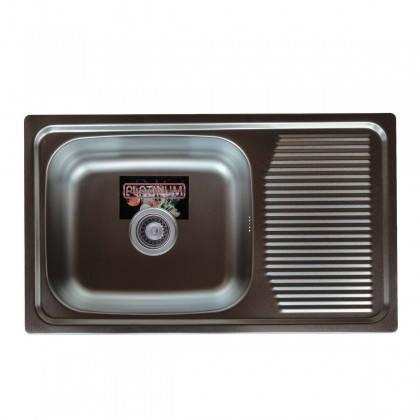 Мойка из нержавеющей стали 08мм Platinum 7544 decor, фото 2