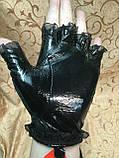 Женские перчатки Лаковая  кожа(Натуральная) без пальцев, фото 2