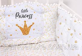 Дитячий постільний набір красивий комплект в ліжечко Маленька принцеса