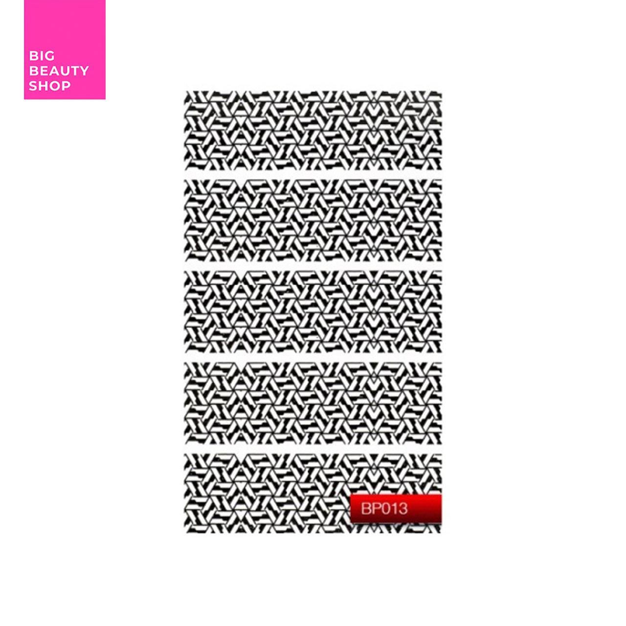 "Наклейка для дизайна ногтей Kodi Professional""Black"" Nail Art Stickers BP013"