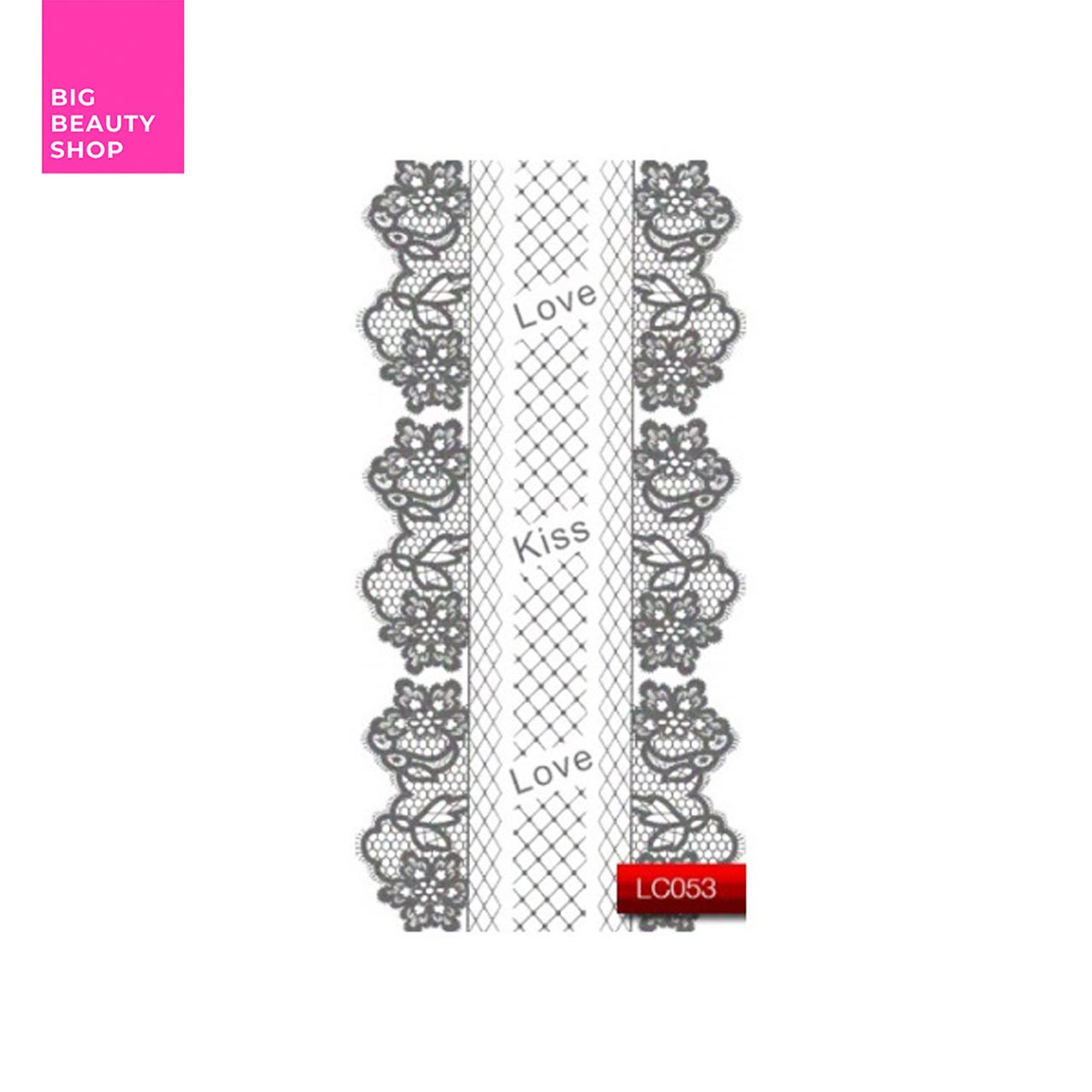 "Наклейка для дизайна ногтей Kodi Professional""Silver"" Nail Art Stickers LC053"