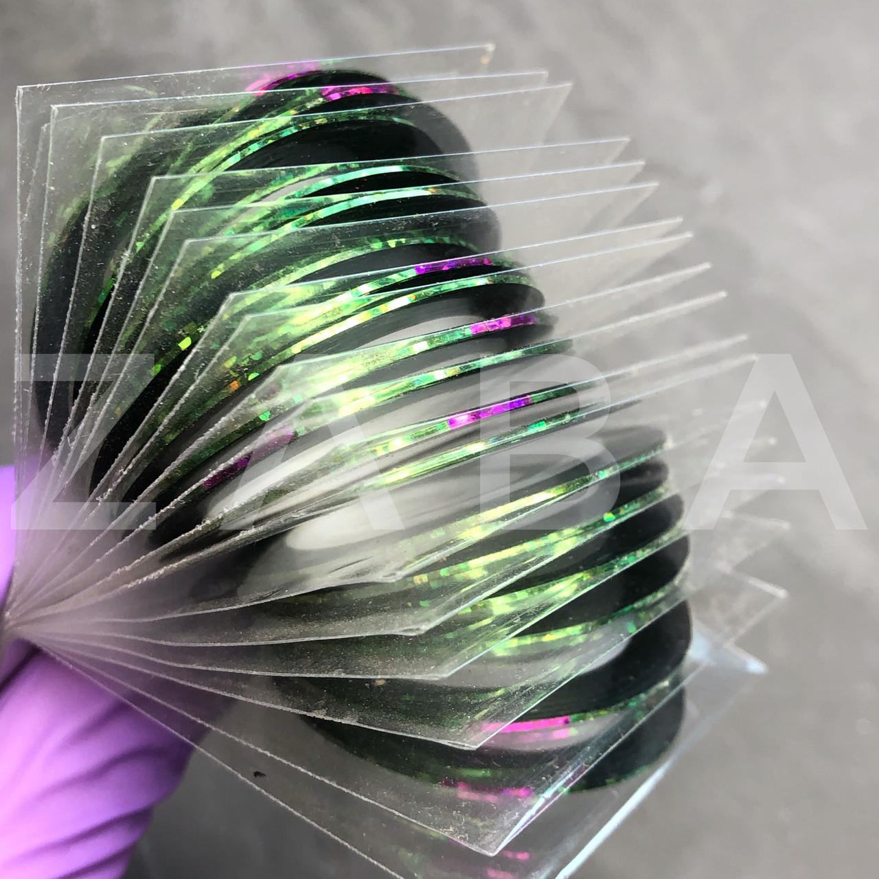 Скотч (лента) для дизайна ногтей, зеленый