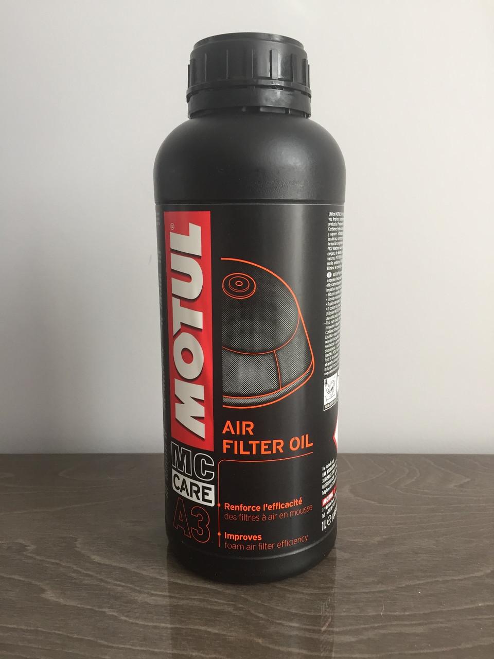 Смазка MOTUL A3 AIR FILTER OIL 1л (108588)