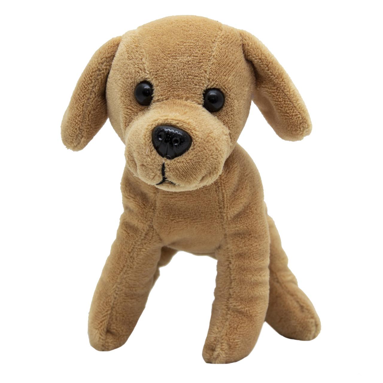 Мягкая игрушка - щенок, 15 см, коричневый, полиэстер (M1307215-4)