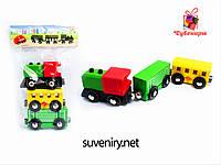 Детский деревянный поезд интересная игрушка для детей