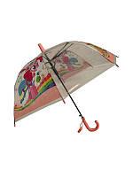 """Детский зонт-трость """"Пинки пай"""" от Mario, с розовой ручкой, TF5-2"""