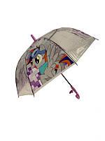 """Детский зонт-трость """"Пинки пай"""" от Mario, с фиолетовой ручкой,  TF5-5"""