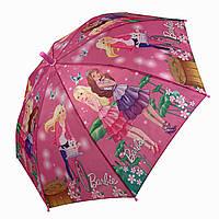 Детский зонт трость с куклами и Барби / Barbie и собачкой от Star Rain, 0107-2