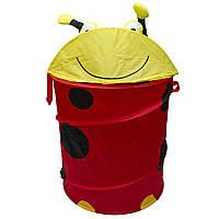Корзина для игрушек - Божья коровка, 46*75 см, красный, полиэстер (T0339B)
