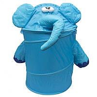 Корзина для игрушек - Слоненок, 46*75 см, синий, полиэстер (T0339C)