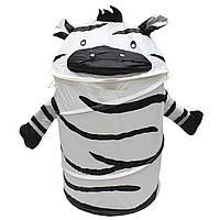 Корзина для игрушек - Зебра, 46*75 см, черно-белый, полиэстер (T0339D)