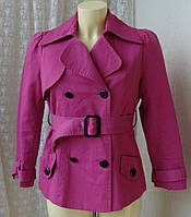 Плащ женский модный яркий хлопок бренд Dunnes р.46 3496