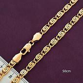 Цепочка из медицинского золота, размер 50см*4мм