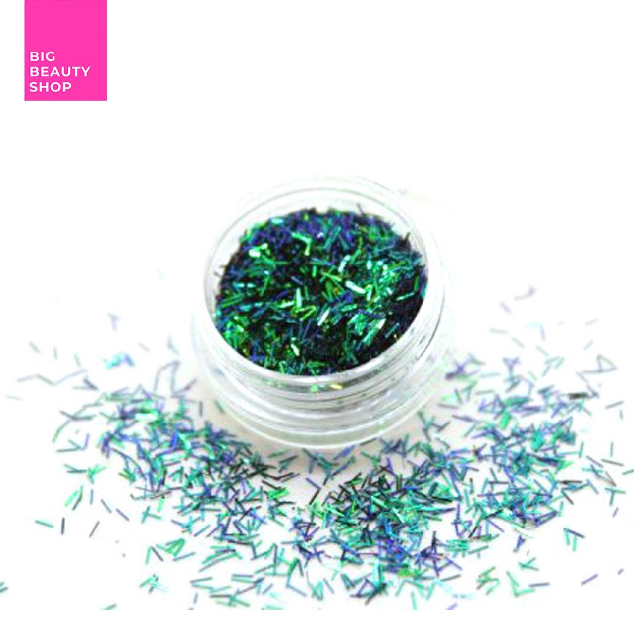 Соломка в баночке для ногтей зеленый №4 А286-4